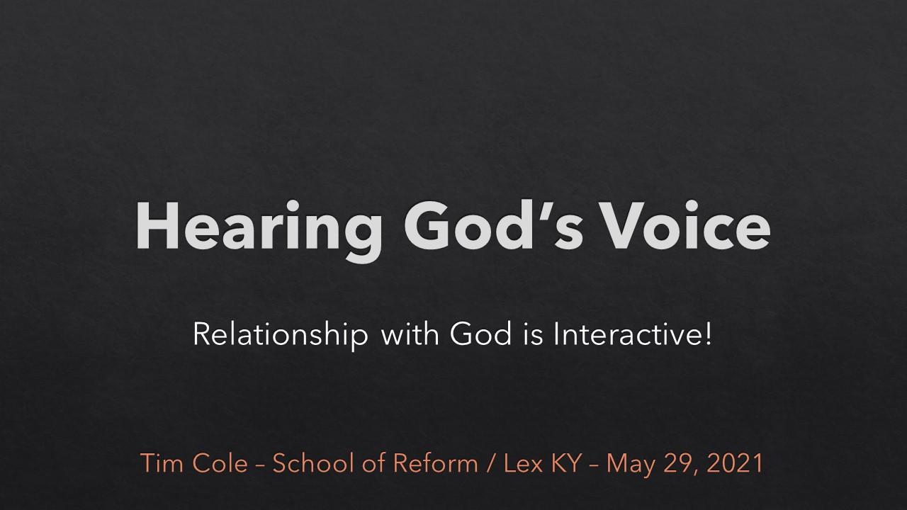 Hearing Gods Voice - SOR May 2021